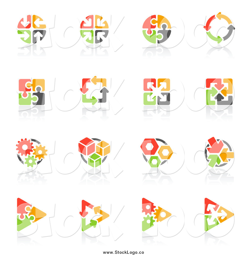 royalty free puzzle stock logo designs