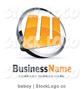 3d Vector Logo of an Orange Letter W and Sample Text by Beboy