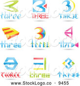 3d Vector Logo of Number Three Logos by Cidepix