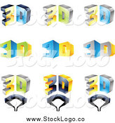 Vector Clipart of 3d Glasses Logos by Cidepix
