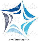 June 23rd, 2014: Vector Clipart of a Abstract Blue Windmill or Star Logo by Elena