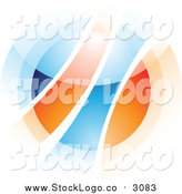 Vector Clipart of a Abstract Blurry Orange and Blue Orb by Cidepix