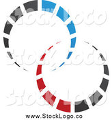 April 30th, 2015: Vector Clipart of a Abstract Red, Black and Blue Circle Logo by Cidepix