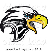 Vector Clipart of a Bald Eagle Head Logo by Vector Tradition SM