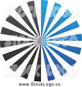 April 19th, 2014: Vector Clipart of a Blue and Black Burst Logo by Cidepix
