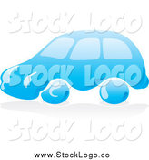 Vector Clipart of a Blue Water Car Logo by Any Vector
