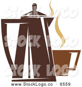 Vector Clipart of a Coffee Logo by Vector Tradition SM