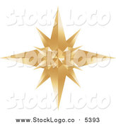Vector Clipart of a Gold Star Burst Logo by Alexia Lougiaki