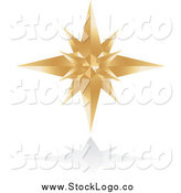 Vector Clipart of a Golden Star Logo by Alexia Lougiaki