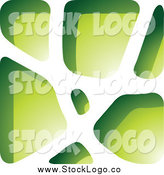 Vector Clipart of a Green Stone Logo by Cidepix