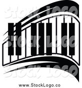 Vector Clipart of a Keyboard Music Logo by Vector Tradition SM