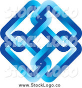 Vector Clipart of a Logo of a Blue Link Diamond by Lal Perera