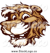 May 29th, 2015: Vector Clipart of a Logo of a Smiling Cougar Mascot Face by Chromaco