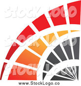 March 4th, 2014: Vector Clipart of a Red, Orange and Black Corner Curve Logo by Cidepix