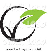 Vector Clipart of a Seedling Plant Ecology Logo by Elena