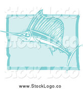 Vector Clipart of a Swordfish in Blue Logo by Xunantunich