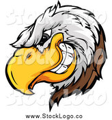 Vector Clipart of a Tough Bald Eagle Mascot Logo by Chromaco