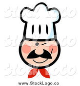 Vector Clipart of a Winking Chef Logo by Hit Toon