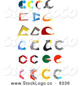 Vector Clipart of Abstract Letter C Designs by Vector Tradition SM