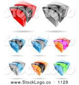 November 8th, 2015: Vector Clipart of Colorful 3d Logos by Cidepix