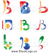 Vector Clipart of Colorful Letter B Abstract Logos by Vector Tradition SM
