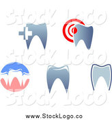 Vector Clipart of Dental Tooth and Gums Logos by Vector Tradition SM