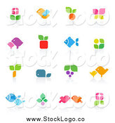 Vector Clipart of Floral and Animal Logos by Elena
