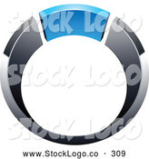 Vector Logo of a 3d Chrome and Blue Ring by Beboy