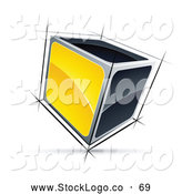 Vector Logo of a 3d Cube with Yellow and Black Sides by Beboy