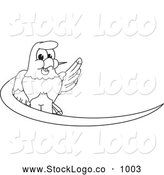 Vector Logo of a Bald Eagle Hawk or Falcon Dash Logo Coloring Page Outline by Toons4Biz
