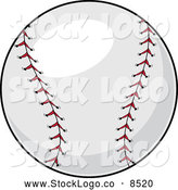 Vector Logo of a Baseball by Pams Clipart
