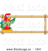 October 2nd, 2013: Vector Logo of a Beautiful Macaw Parrot Character Mascot Bamboo Logo by Toons4Biz