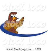 Vector Logo of a Brown Falcon Mascot Character Dash Logo by Toons4Biz