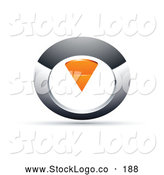 Vector Logo of a Chrome and Orange Circular Knob on White by Beboy