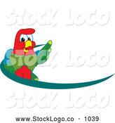 Vector Logo of a Colorful Macaw Parrot Character Mascot Dash Logo by Toons4Biz