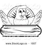 September 13th, 2013: Vector Logo of a Coloring Page of a Bald Eagle Hawk or Falcon Wooden Logo Outline by Toons4Biz
