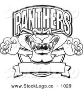 September 26th, 2013: Vector Logo of a Coloring Page of a Panther Character Mascot Logo by Toons4Biz