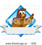 Vector Logo of a Cute Falcon Mascot Character Diamond Logo by Toons4Biz