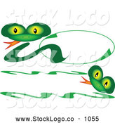 October 9th, 2013: Vector Logo of a Cute Friendly Green Snake Logo and Banner by Kaycee