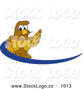 Vector Logo of a Cute Hawk Mascot Character Dash Logo by Toons4Biz