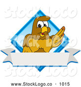 September 19th, 2013: Vector Logo of a Cute Hawk Mascot Character Diamond Logo by Toons4Biz