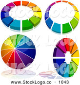October 3rd, 2013: Vector Logo of a Digital Set of Rainbow Logo Designs by Dero