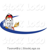 Vector Logo of a Friendly Rocket Mascot Cartoon Character with a Blue Swoop by Toons4Biz