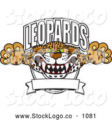 Vector Logo of a Frightening Leopards Character School Mascot Logo by Toons4Biz