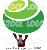 Vector Logo of a Green Tree by Elena