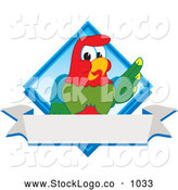 September 29th, 2013: Vector Logo of a Happy Macaw Parrot Character Mascot Diamond Logo by Toons4Biz