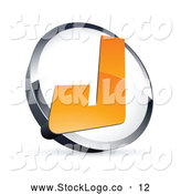 Vector Logo of a Letter J in a Ring Above Space for a Business Name and Company Slogan by Beboy