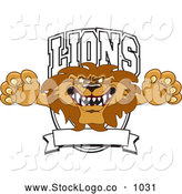 Vector Logo of a Mean Lion Character Mascot Logo by Toons4Biz