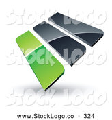 Vector Logo of a Pre-Made Logo of 3d Green and Gray Bars by Beboy