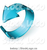 Vector Logo of a Pre-Made Logo of a Blue Glass Arrow in a Circle, with Space for a Business Name and Company Slogan by Beboy